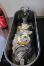 Fish poacher in kitchen